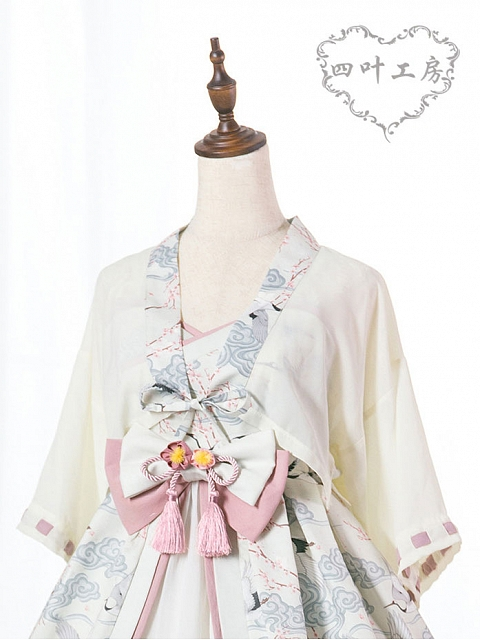 Crane and Spring Wa Top by Yotsuba's Home