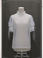 Sweet Lolita Miss Dolce Desserts Flounce Collar Half Sleeves Blouse by Your Gift