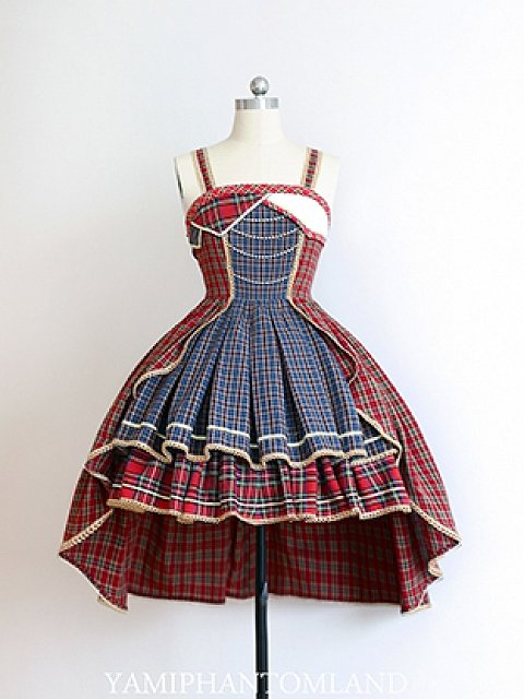 Against Galaxy Plaid Idol Declaration JSK Lolita Dress by YamiPhantomLand