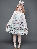 Mangosteen Sweet Lolita Dress Matching Long Sleeves Daisy Shirt by YUPBRO Lolita