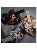 Souther Designed Antique Poetry Yarn Sleeves Flower Corsage by Zjstory