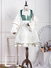 Pre-order Short Sheer Embroidered Apron-Anna Polka Collection by ZJstory