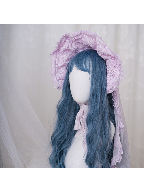 Sea Moon Cross Bonnet and Hairclip by Zjstory
