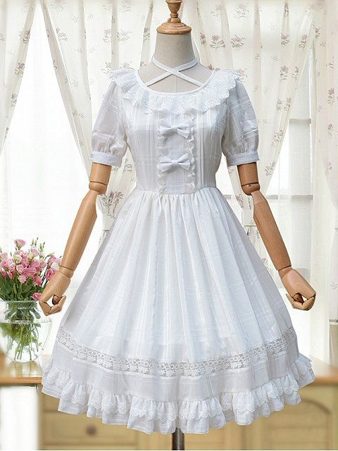 Simple Elegant Lolita Dress - Date with an Angel  by ZhiJinYuan