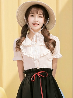 Sweet Short Sleeves Summer Lolita Shirt - Popcorn by ZhiJinYuan