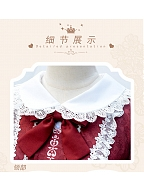 Floral Printed Long Sleeves Peter Pan Collar Lolita OP - Flowers Blossoming by ZhiJinYuan