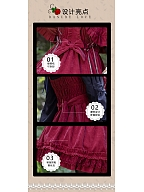 Lace Decorated Bodice Dress Hemline JSK - Little Red Riding Hood by ZhiJinYuan