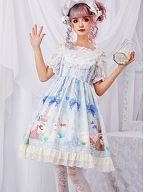 Picnic Prints Sweet Lolita JSK - Afternoon by ZhiJinYuan