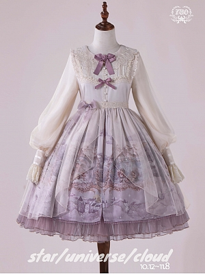Star Universe Cloud Classic Lolita Dress Round Neckline OP by ZUO Lolita