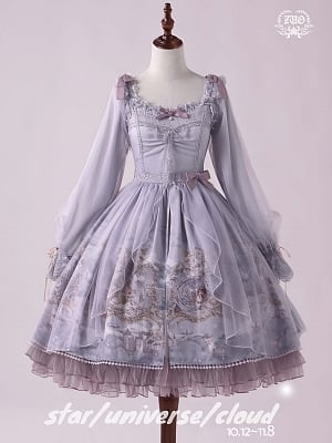 Star Universe Cloud Classic Lolita Dress Sweetheart Neckline OP by ZUO Lolita