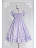 Neck Ties Short Puffy Sleeves Lolita Dress / OP - Glittering Little Stars and Hearts by Souffle Song