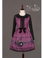 The Butterfly and The Witch Long Sleeves Halloween Lolita OP Dress - HANA