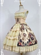 Custom Size Available Layered Open Front JSK - Magic Night in Museum by Souffle Song