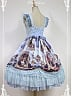 Elegant Ruffled Straps Pick-up Skirt Lolita Jumper Skirt JSK - Magic Night in Museum by Souffle Song