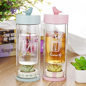 Pocket Garden Glasses Water Bottle