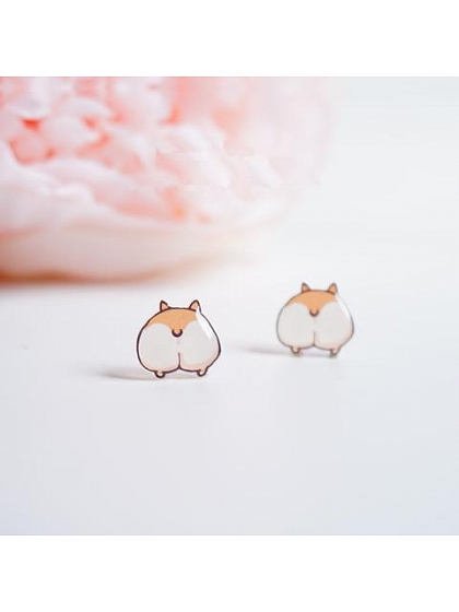Corgi's Buttocks Earrings