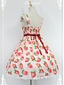Custom Size Available Daily Lolita Jumper Skirt Strawberries Printed Lolita JSK by Souffle Song