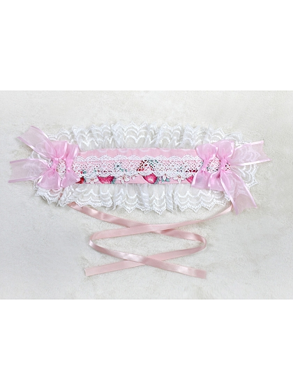 Rose's Valley Strawberry And Bunny Collection Matching Hairband