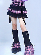 Punk Sweet Pink Plaid Disc Buckle Cake Skirt by Blood Supply