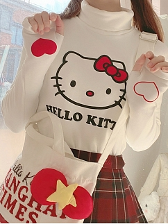 Sanrio Authorized Cinnamoroll / Hello Kitty Turtleneck T-shirt by Advertising Balloon