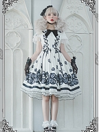 Sanrio Authorized Hello Kitty Roses Lolita Dress OP by Advertising Balloon