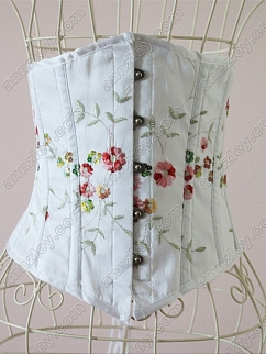 White Embroidered Corset by Annzley Corset