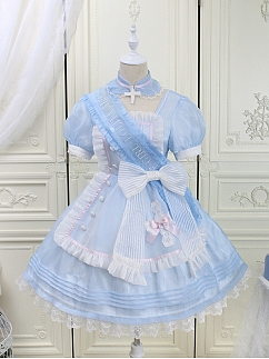 Sweetheart Rescue Sweet Lolita Dress Matching Ribbon by Alice Girl
