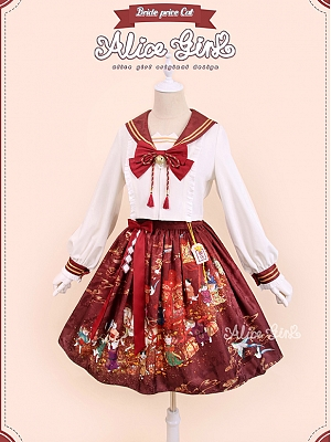 Betrothal Gifts Kitty Lolita Skirt Set by Alice Girl