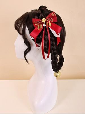 Betrothal Gifts Kitty Lolita Bowknot Hairclips by Alice Girl