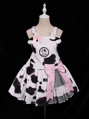 Little Cow Sweet Lolita Overall Dress JSK by Alice Girl
