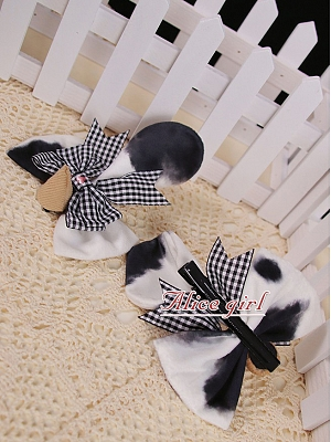 Little Cow Sweet Lolita Dress Matching Hairclips by Alice Girl