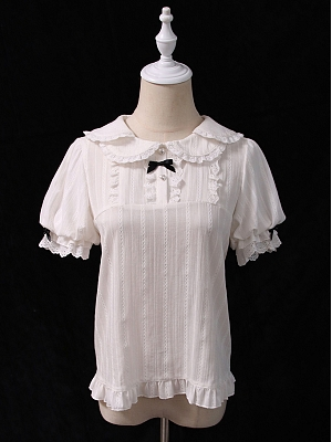Little Cow Sweet Lolita Short Sleeve Blouse by Alice Girl