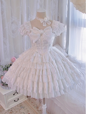 Praise of Spring Hanayome Tiered Skirt Lolita Dress OP by Alice Girl
