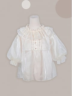 Red Panda Series Lolita Tulle Blouse by Asleep Townlet