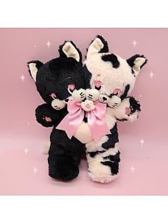 Double Heads Kitty Plush Bag by Bully Bunny