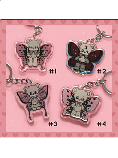 Butterfly Bear Key Ring by Bully Bunny