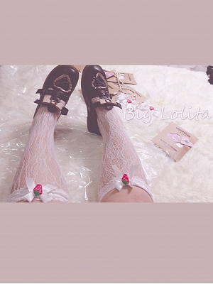Plus Size Strawberry Lace Socks by Big Lolita