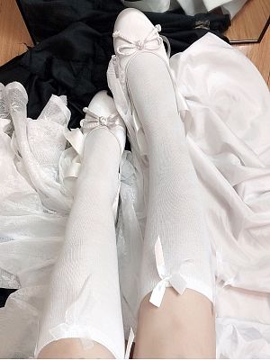 Plus Size White/Black Socks by Big Lolita