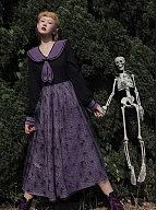 Spiderweb Castle Long Sleeve Dress by Cheese Day