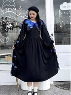 Plus Size Morpho Split Sleeves Dress by Cheese Day