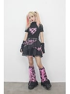 Y2K Pink Plaid Mini Skirt with Chain by DIET GRRRL