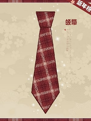 Red Plaid Bow Tie / Tie by Hard Candy