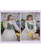Plus Size Memories of Spring Peter Pan Collar Long Dress / Vest by Hard Candy