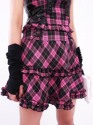 Angel of Love Punk Harajuku Set Plaid Skirt by KOKORI