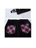 Angel of Love Punk Harajuku Style Plaid Pockets Short Pants by KOKORI