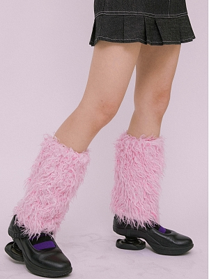 Corrupt Idol Y2K Pink Shaggy Leg Wears by KOKORI
