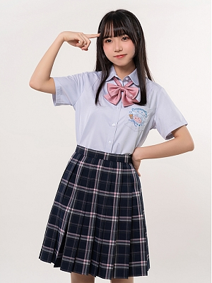 Sanrio Authorized Cinnamoroll JK Uniform Short Sleeves Pointed Collar Shirt by KYOUKO