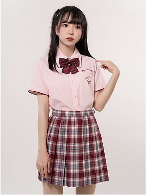 Sanrio Authorized My Melody Pink JK Uniform Short Sleeves Shirt by KYOUKO