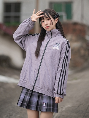 Sanrio Authorized High Neck Zipper Sports Jacket by KYOUKO