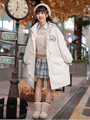 Sanrio Authorized Hooded Long Jacket by KYOUKO